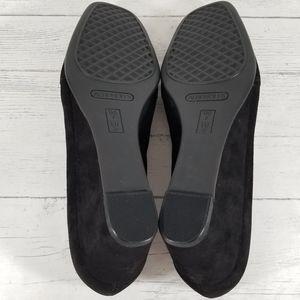 AEROSOLES Shoes - Aerosoles Black Suede Wedge Pump